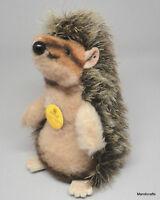 Steiff Joggi Hedgehog Standing Spikey Mohair Dralon Plush 12cm 5in ID Tag 1970s