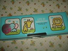 "Vintage 1980s Stationery - Rare Kokuyo Magnetic ""Live in Harmony"" Pencil Case"