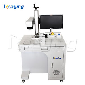 50W 3D Raycus Fiber Laser Metal Marking Engraving Machine For curved surface