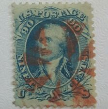 US #72b Dark Blue w/ Red Cancel fresh & sound Scott $1,150 scarce issue