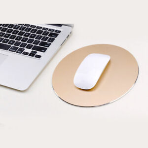 Round Mouse Mat Aluminum Anti Slip Rubber Waterproof Computer Gaming Mouse Pad
