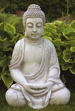 BUDDHA Steinfigur sitzend 50cm Gartenfigur Skulptur Steinkunst Bayern BLACKFORM