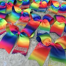Personalised cheer bows/clip lot ,perfect for party bags,school, birthdays,dance