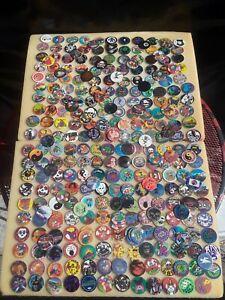 Vintage Lot 300 POGS Milk Caps SLAMMERS  Holofoils Poisons Bad Boy Club 90s lotA
