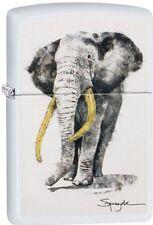 Zippo 29844, Spazuk-Elephant With Tusks, White Matte Finish Lighter