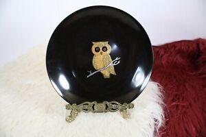 """COUROC Of Monterey California OWL BOWL Vintage Mid Century 7-1/2"""" Round Bowl"""