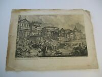 "ANTIQUE GIOVANNI BATTISTA PIRANESI ETCHING LARGE 27""  VEDUTA PORTO DI RIPETTA"