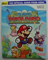 SUPER PAPER MARIO WII OFFICIAL PLAYER'S GUIDE STRATEGY NINTENDO POWER W/ POSTER