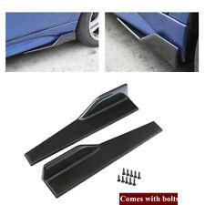2X Car Side Skirt Splitters Winglet Canard Diffuser Shovels Anti-scratch Spoiler