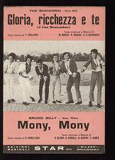 SPARTITO SHEET MUSIC SHOWMEN GLORIA RICCHEZZA E TE / BRUNO BILLY MONY MONY 1968