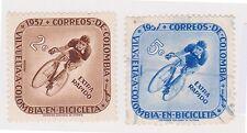 (COA-2) 1957 Colombia 2set cycle race 2c& 5c