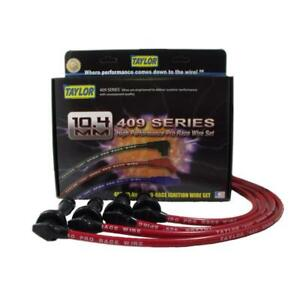 Taylor Spark Plug Wire Set 79269; 409 Pro Race 10.4mm Red for Mitsubishi 4cyl