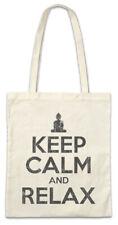 Keep Calm And Relax Stofftasche Einkaufstasche Fun Chill Chiller Sleep Sleeping
