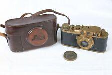 Leica D.R.P Ernst Leitz Wetzlar Film Camera Leitz Elmar 50mm f/3.5 GOLD Replica