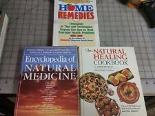 Lot of 3 - Natural Healing and Home Remedy Cookbooks