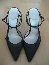 Christian Dior Elegante Zapatos De Taco gris, talla EU 38.5/UK 5.5