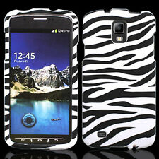 For Samsung Galaxy S4 Active i537 HARD Protector Case Snap On Phone Cover Zebra