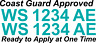 "Teal Boat Registration Numbers Decals Custom Vinyl Coast Guard Approved 3"" Pair"