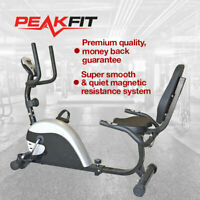 PeakFit PF640 New Recumbent Exercise Bike - Magnetic Resistance - Home Gym
