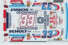 #33 Joe Nemechek Oakwood Homes1/32nd Scale Slot Car Decals