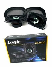 "4"" x 6"" 220 W 2 way Coaxial Speakers Adjustable tweeters Logic Sound lab ZX4600"