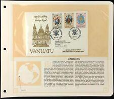 Vanuatu 1981 Royal Wedding FDC + Info Page #V6449