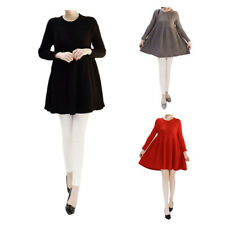 Maternity Skirts Women Pregnant Dress Cotton Long Sleeve Casual Clothes New