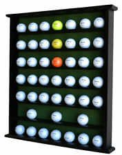 49 Golf Ball Display Case Cabinet Rack Wall Shelves, NO Door, Black
