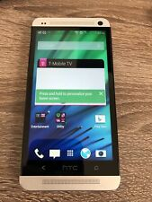 HTC One M7 PN07130 32GB Silver Smartphone T-Mobile - Good Condition, Works good