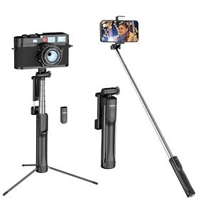 Mpow 3-in-1 Selfie Stick Phone Camera Tripod With Removable Wireless Remote