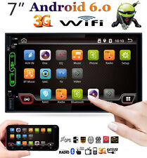 7'' WiFi 2DIN Car Radio Stereo MP3 Player GPS FM Android 6.0 Mirror Link +Camera