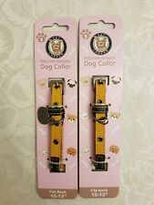 """Pet London Faux Leather Adjustable Dog Collar x 2 Size S Fits Neck 10-13"""""""