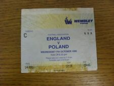17/10/1990 Ticket: England v Poland [At Wembley] (creased with adhesive marks at