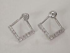 Sovats 925 silver Chevron Triangle Earrings Simple Style Geometric Ear Stud New