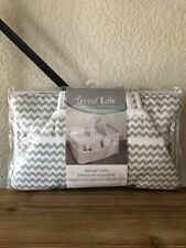 Trend Lab Diaper Storage Caddy - Chevron Stripes White/Gray, Dove Gray