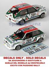 Decals trasformazione Fiat Ritmo #289 1/43 - Bettega - Giro d'Italia 1979