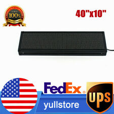 P8 Led Sign Full Color 40 X 10 Scrolling Programmable Message Display Banner