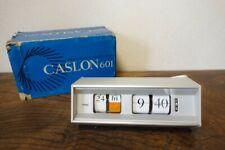 Copal flip clock Caslon 601 Tsutomu Watanabe w/ box