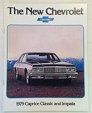 Vintage 1978 Chevrolet 1979 Caprice Classic Impala Informational Sales Brochure
