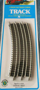 """Bachmann Vintage 5"""" N Scale Curved Track (6) pcs NEW-OLD STOCK SEALED"""