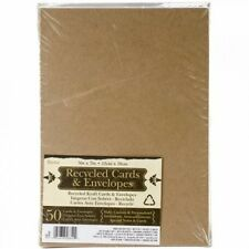 Darice 5 x 7 Blank Cards  Envelopes - Value Pack - 50 Count - Natural, New