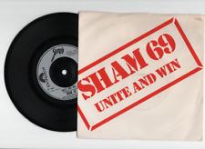 SHAM 69 UNITE AND WIN 7'' 1ST PRESS EX 1980 45RPM 2059 259 POLYDOR PUNK ROCK Oi!