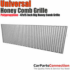 Universal Grille Hex Big Hole Spoiler Sport Hexagon Sheet Black Honeycomb Screen