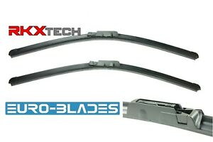 Front Windshield Wiper Blades set 2 for Audi A6 C6 factory style fit 2005-2011