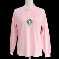 BURBERRY Logos Long Sleeve Tops Shirt Pink Cotton #L FE5-11 Authentic AK38230c