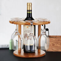 Bamboo Bottle Wine Glass Drying Rack Storage Shelf Display Holder Home Office