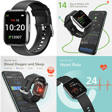 Letsfit IW1 Smart Watch Android iPhone Blood Oxygen & Heart Monitor IP68 💦proof