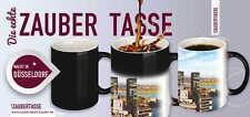 Düsseldorf Städtetassen Kaffeebecher Zaubertassen kalt schwarz - warm weiß *