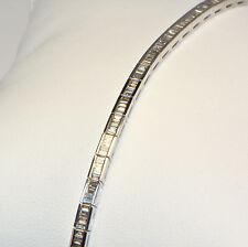 Diamant Armband in 750er Weissgold mit 2,12 Karat Diamantgewicht Baguette Tennis