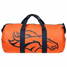 Denver Broncos Vessel Barrel Duffle Bag Gym Swimming Carry On Travel Luggage New